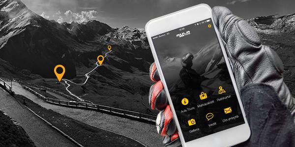 Moottoripyöräilyyn mobiiliapplikaatio (AulaTours)